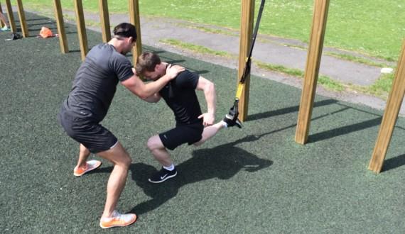 TRX one lg squat