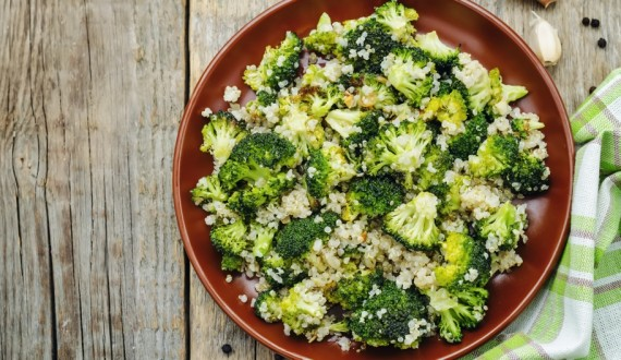 quinoa broccoli