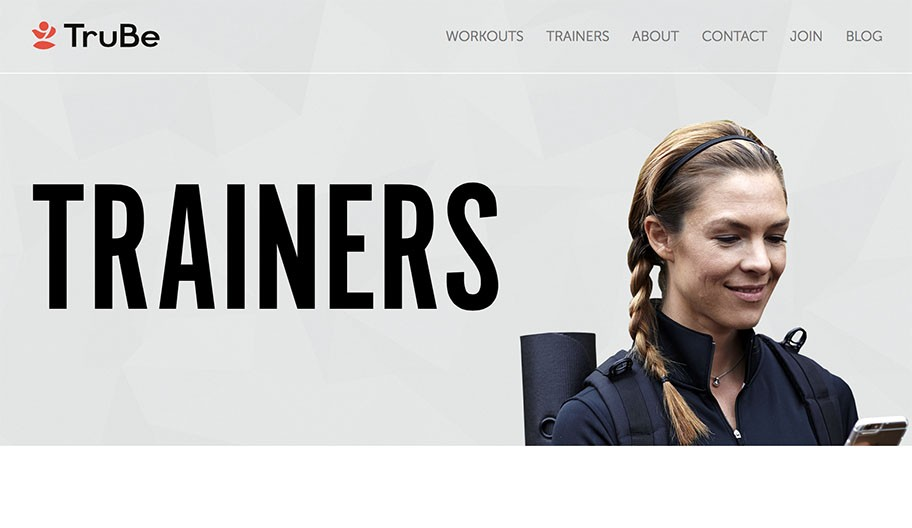 header of trainers page