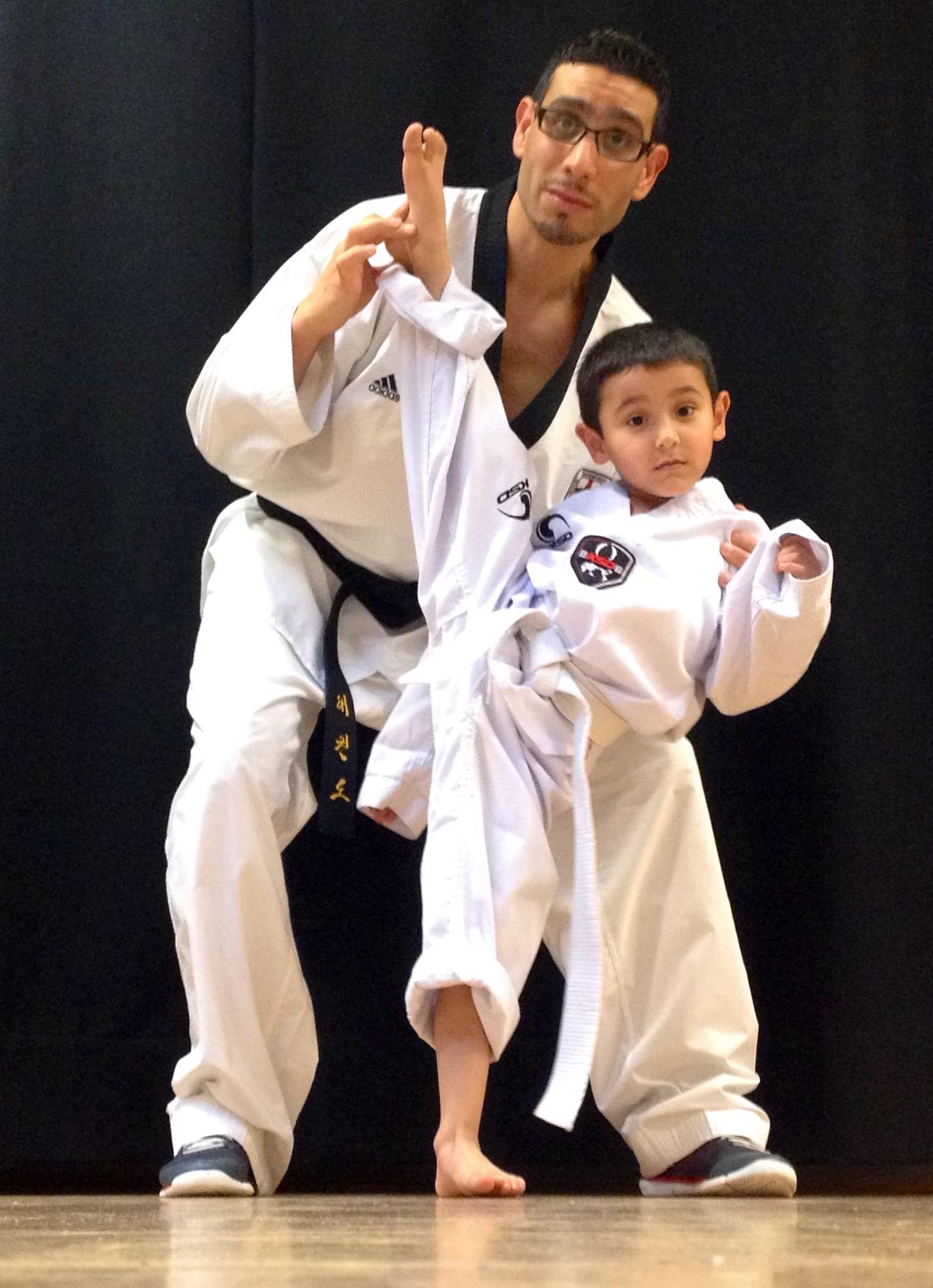 Man teaching martial arts