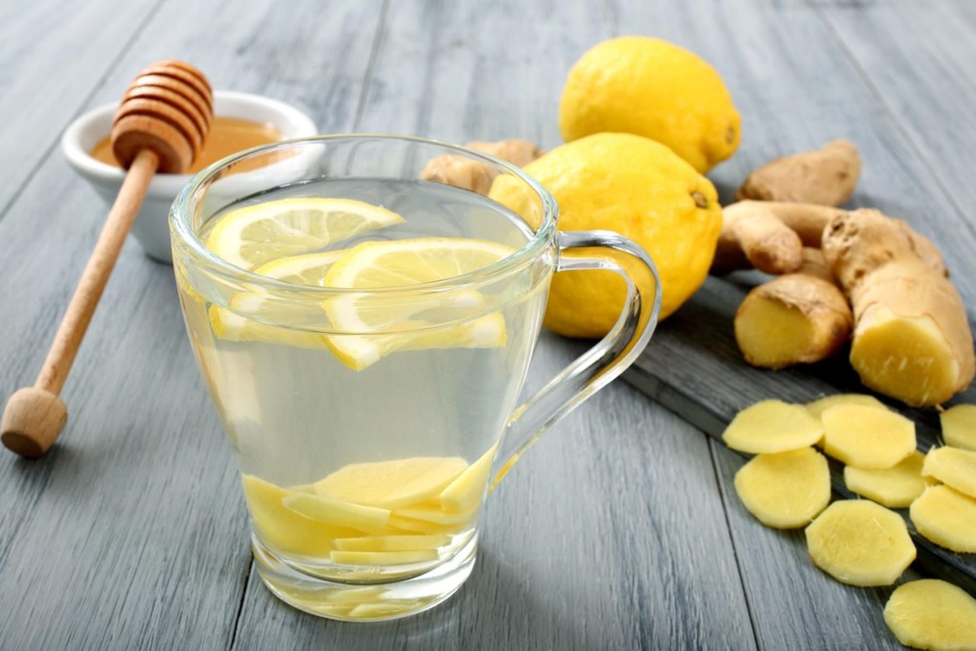 Lemon, hot water, lime, ginger, cleansing, liver